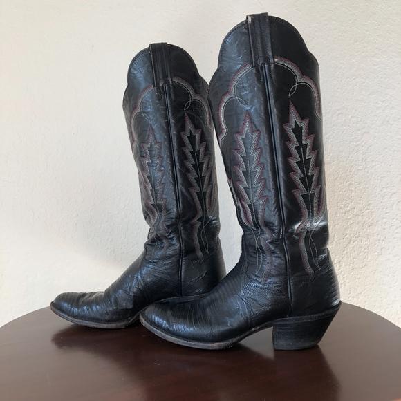 2974b208201 Panhandle Slim Black Cowboy Boots Women's Size 7